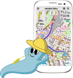 Smartphone with SYDO Traffic Ghost navigation